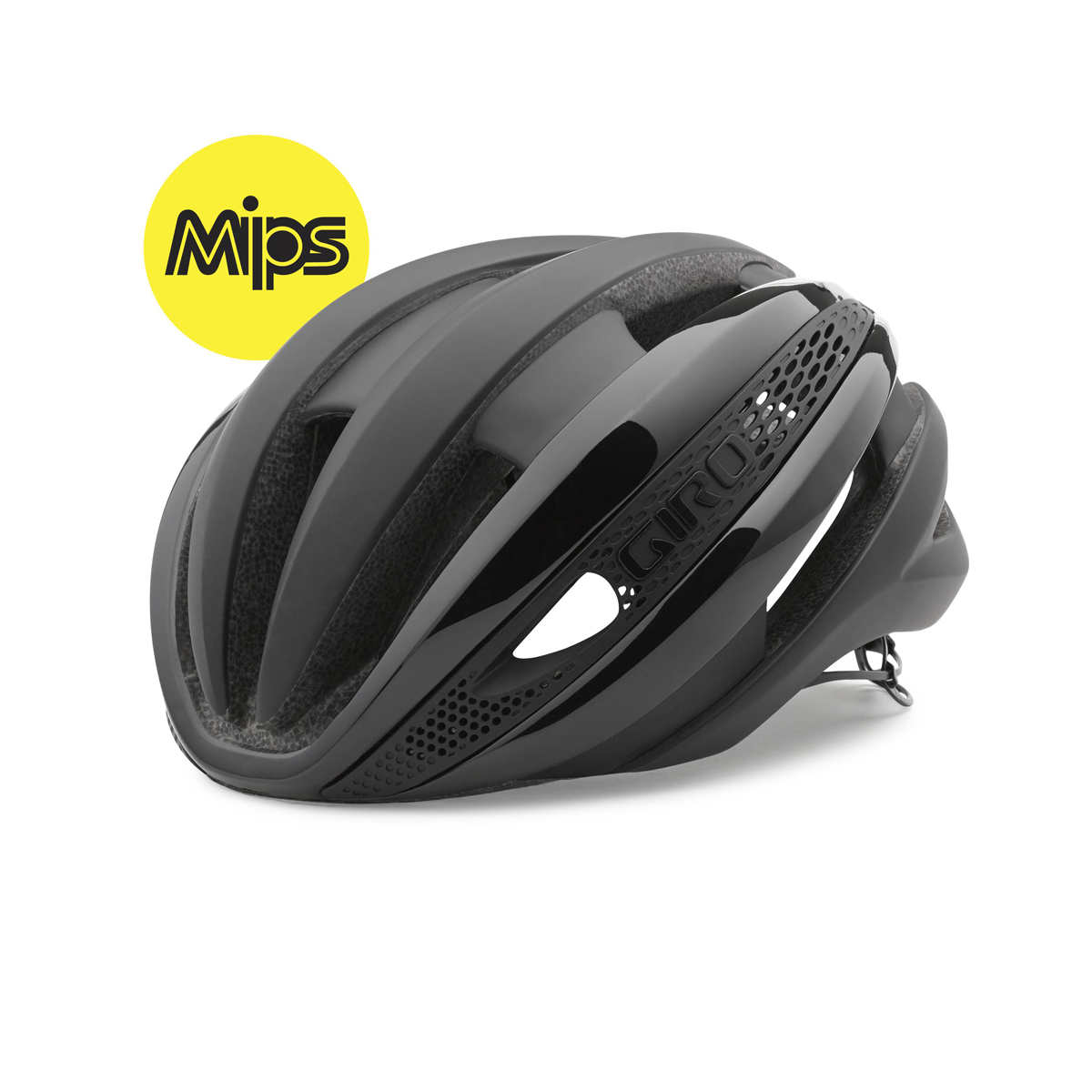 giro synthe mips rennrad fahrrad helm schwarz 2018 ebay. Black Bedroom Furniture Sets. Home Design Ideas