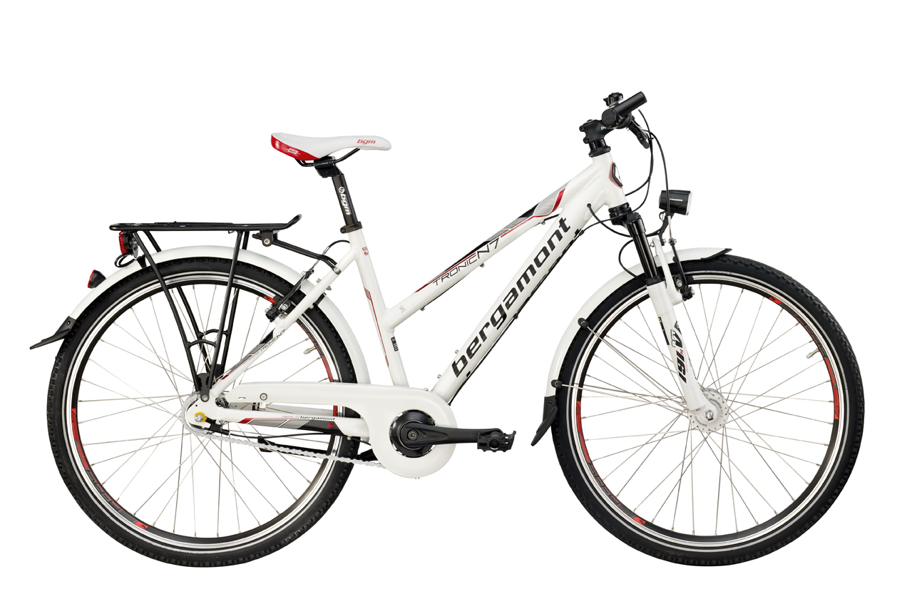 bergamont tronic n 7 atb damen fahrrad weiss rot 2012 ebay. Black Bedroom Furniture Sets. Home Design Ideas