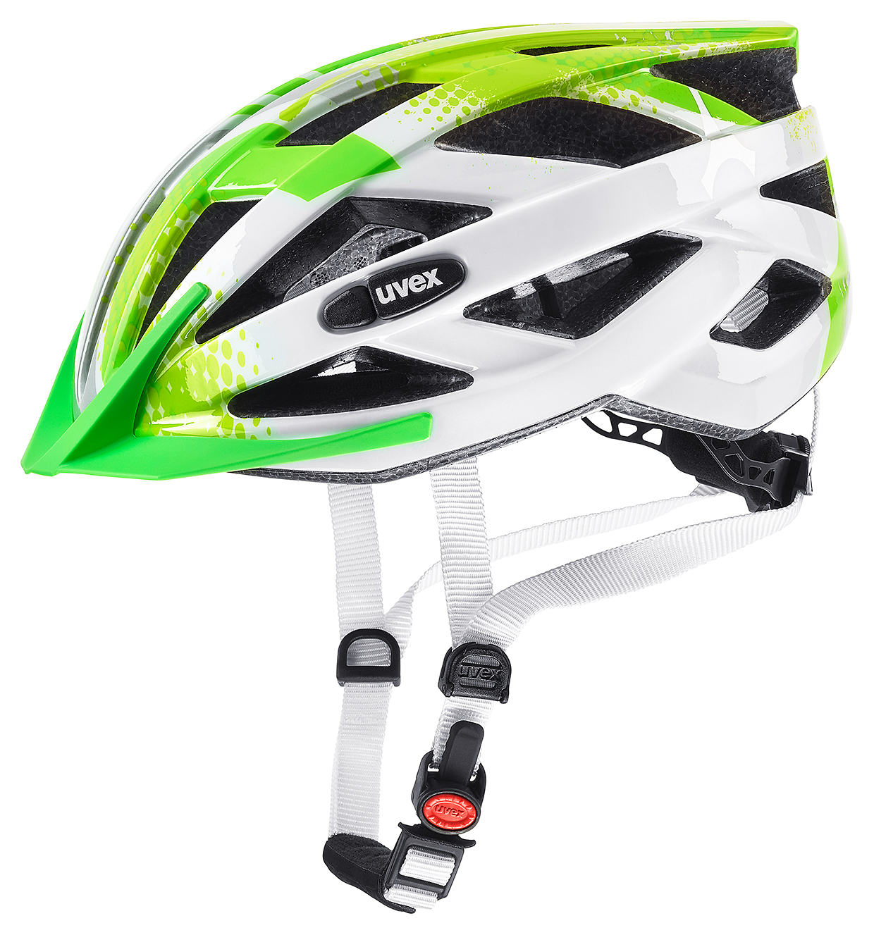 Uvex Air Wing Kinder Fahrrad Helm Gr. 52-57cm green white 2019