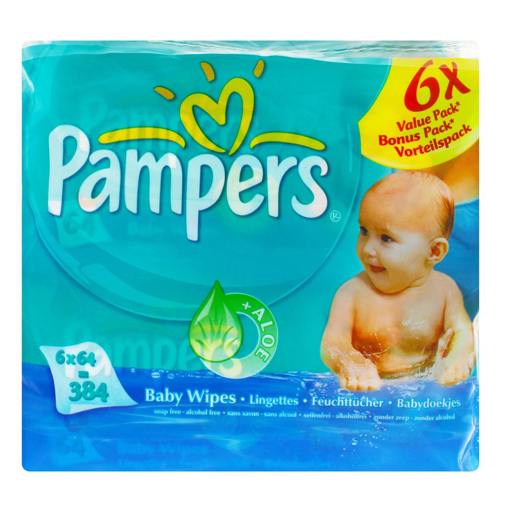 Pampers-Feuchte-Tuecher-Babyfresh-Nachfuellpack-6x64-Stueck