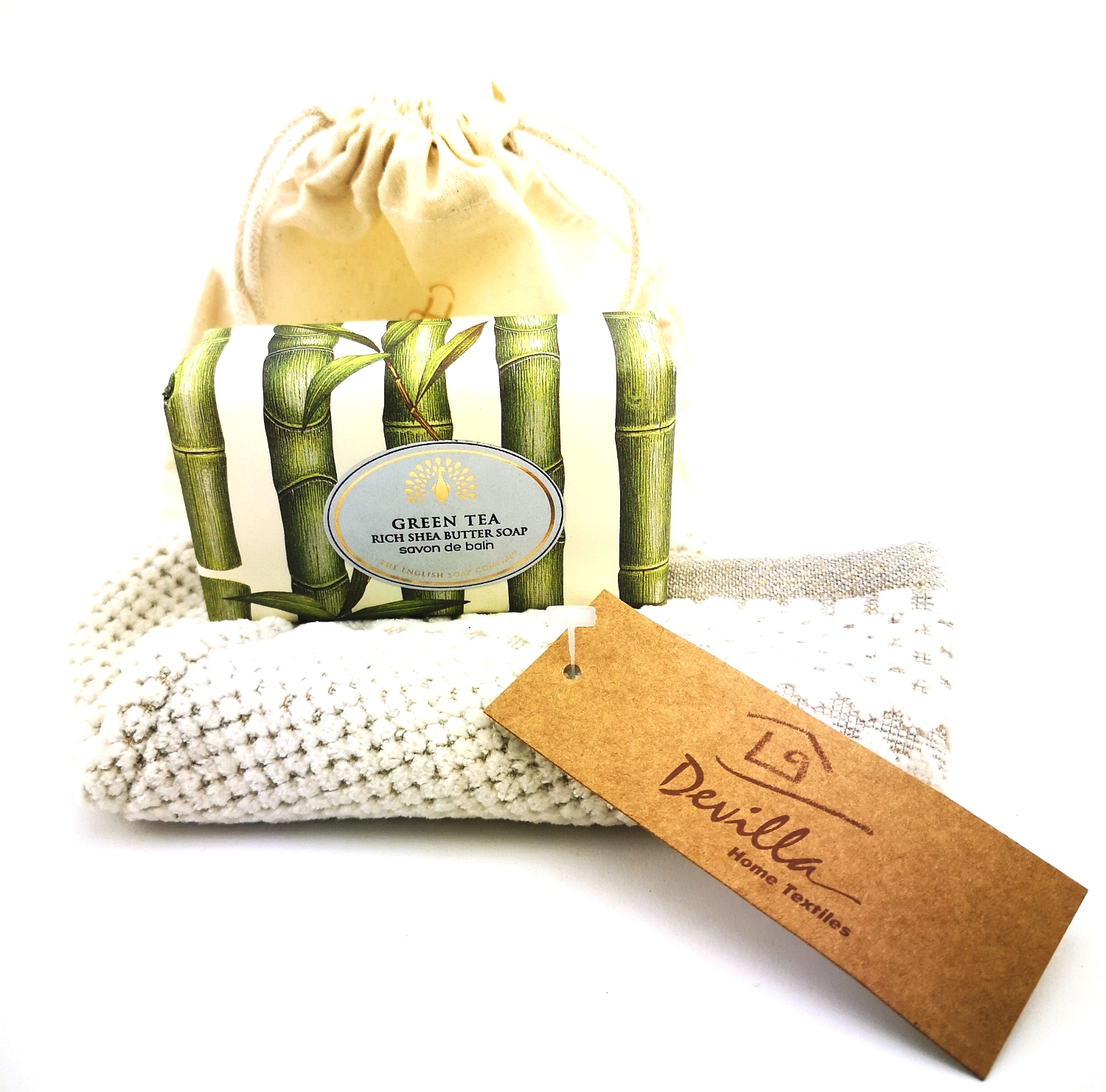 Geschenk-Set mit THE ENGLISH SOAP Luxury Shea Butter Soap