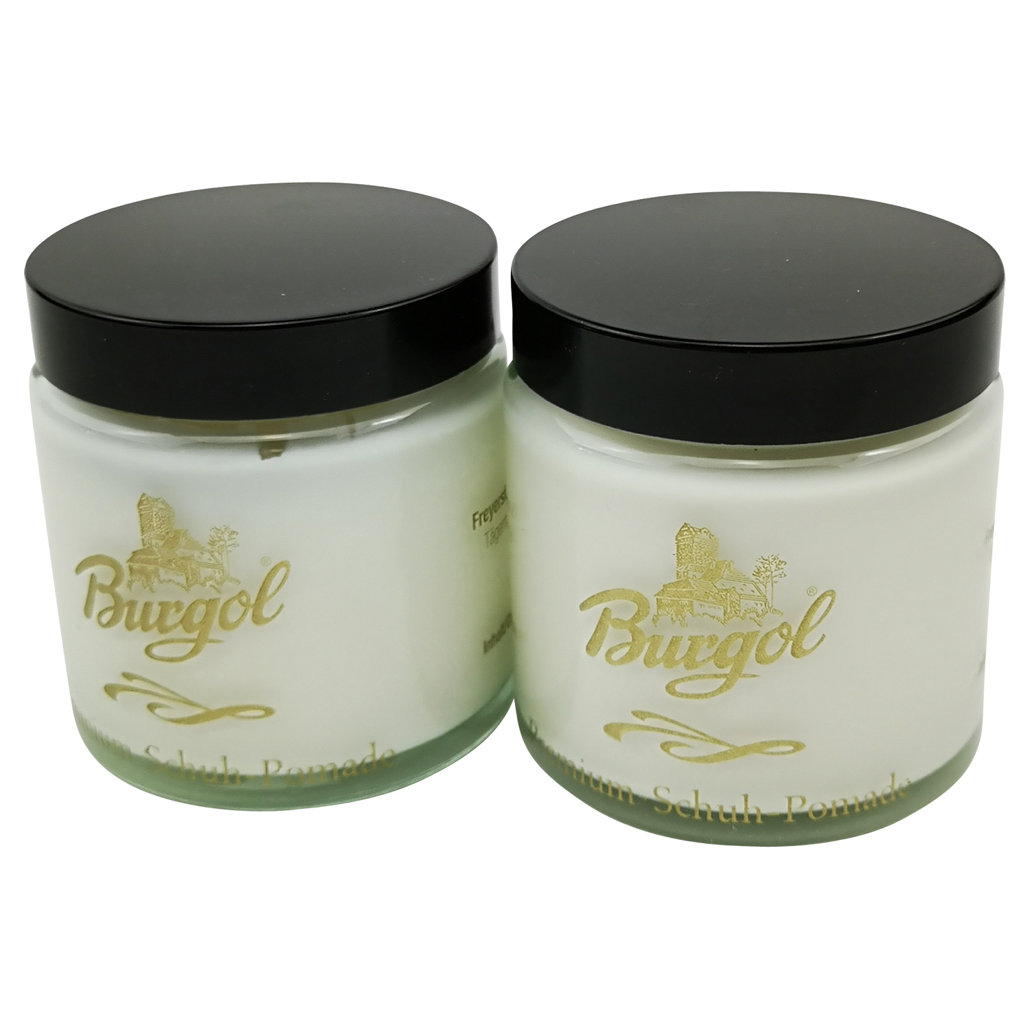 Burgol premium shoe pomade polish colorless