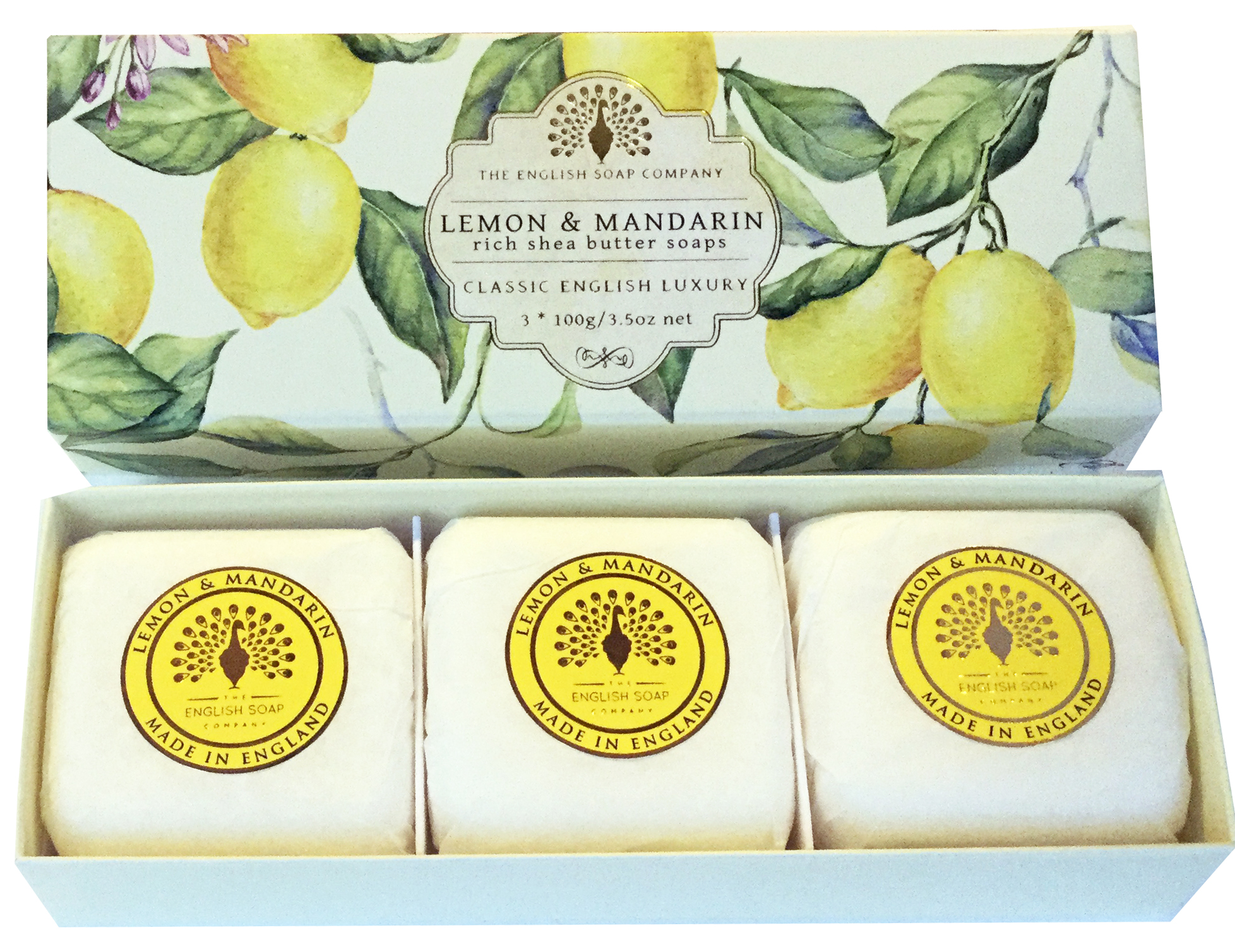 THE ENGLISH SOAP COMPANY Luxury Shea Butter Soap 3 x 100g Hand-Seife