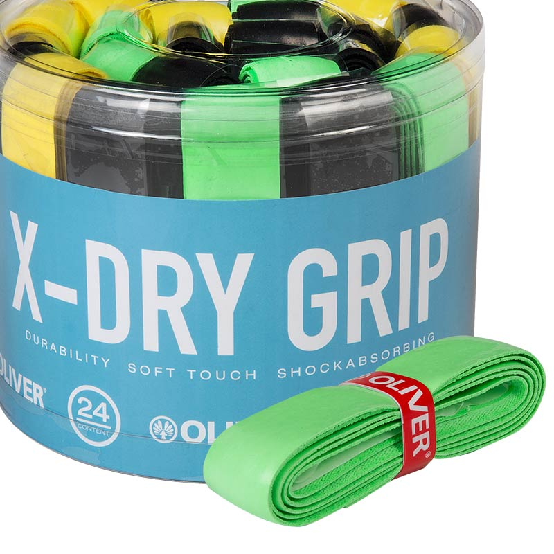 Oliver Basis Griffband X-DRY Squash Badminton Tennis gelb yellow NEW! | pack of 2