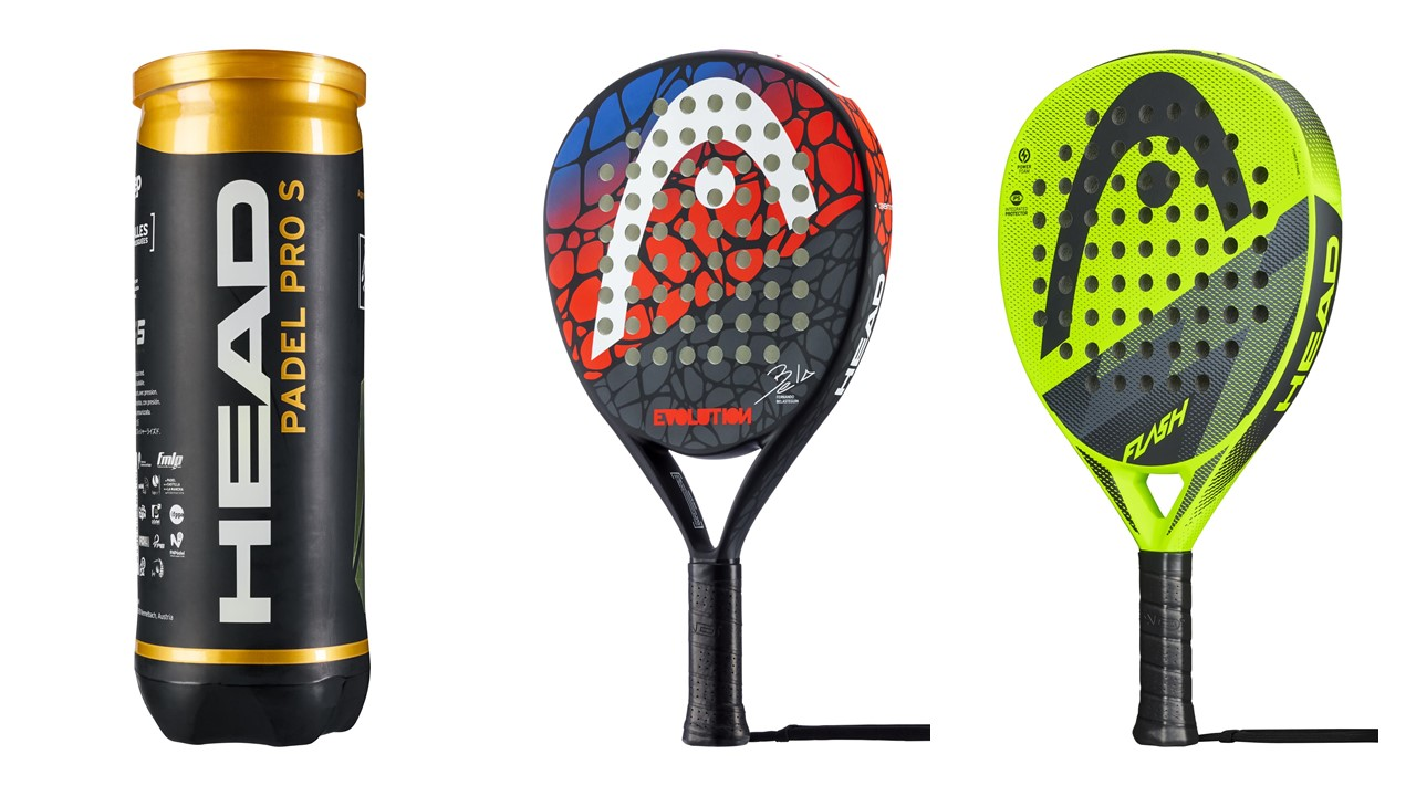 HEAD Padel Schläger Set Evolution & Flash 3 Padel Bälle Pro S Uvp. 166,5 Euro