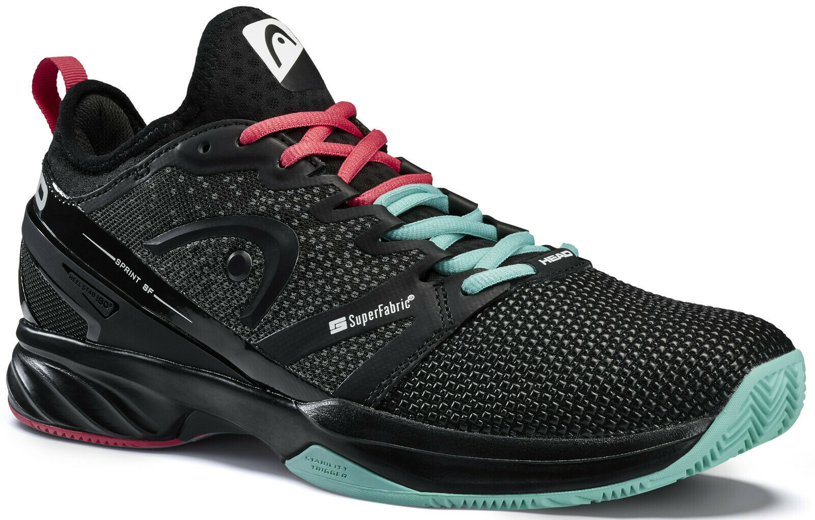 Head Sprint Clay Women Tennisschuhe black/red/teal