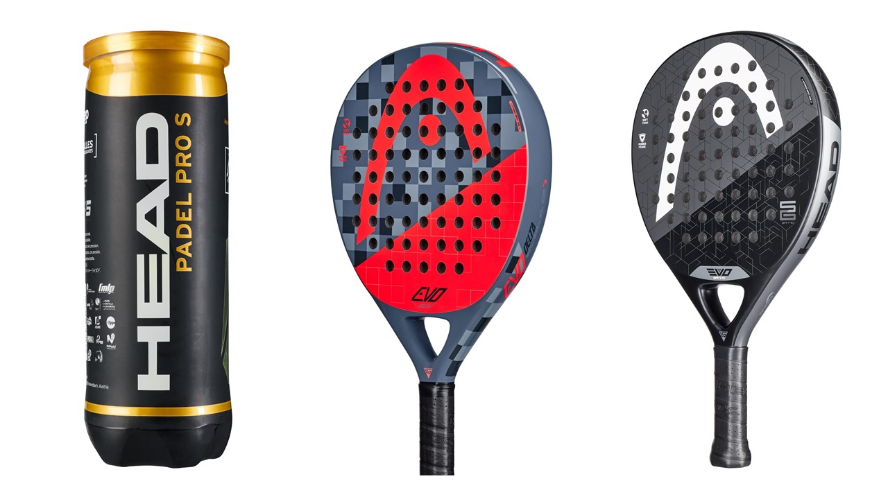 HEAD Padel Schläger Set Evolution Sanyo & Evolution Delta + 3 Padel Bälle Pro S