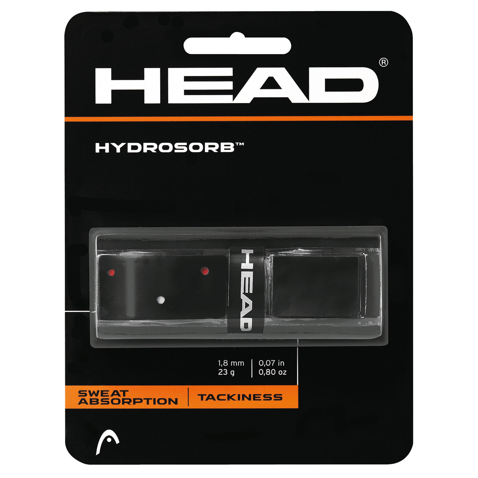 Head Basisgriffband HydroSorb black