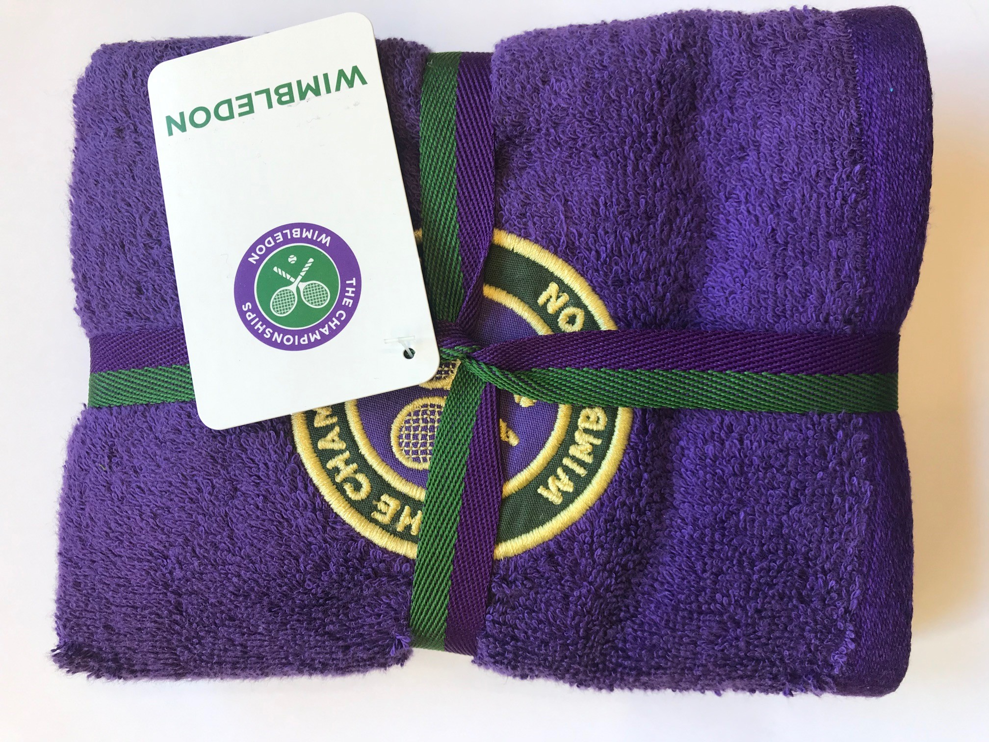 Wimbledon org. Men Guest Towel Green
