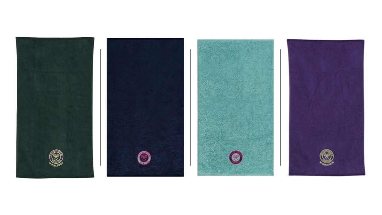 Wimbledon Guest Towels Set - Pack of 4 matching the 2019 Championship Towels
