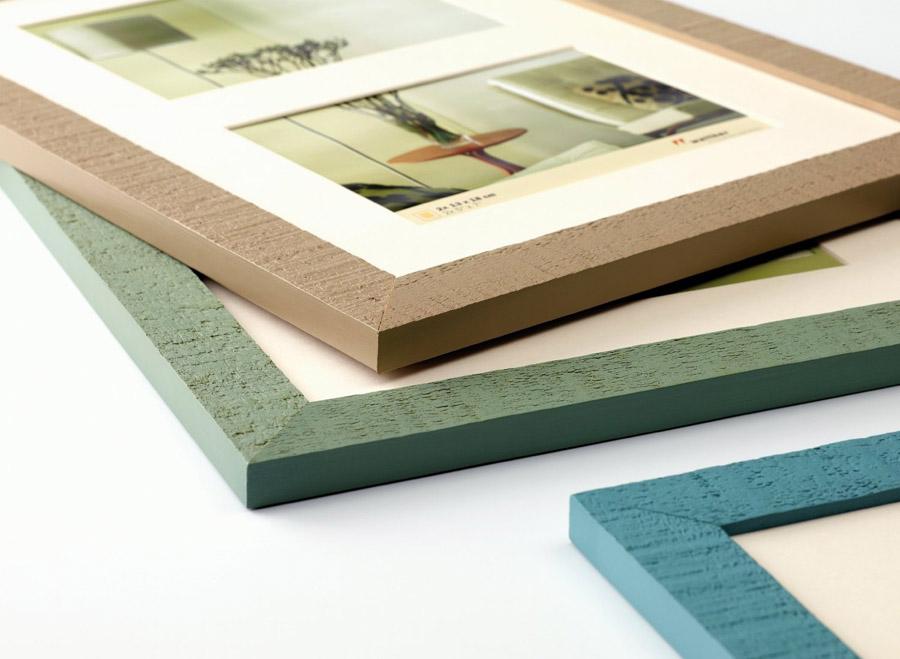 Home Bilderrahmen aus Holz in 10x15 bis 70x100 mit Passepartout Bild Foto Rahmen