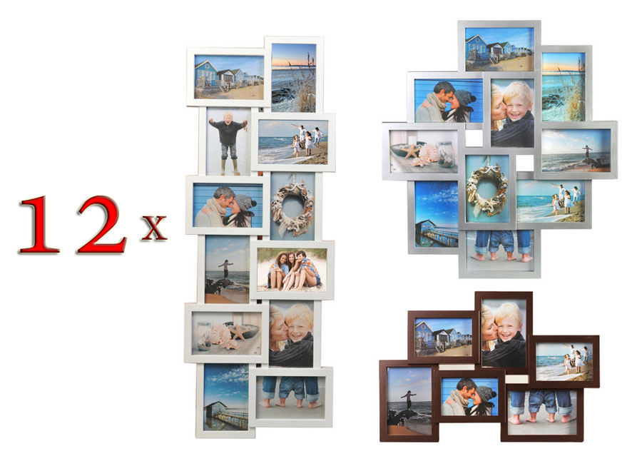 12 Bilderrahmen Holiday Multirahmen Fotorahmen Collage Rahmen Foto ...