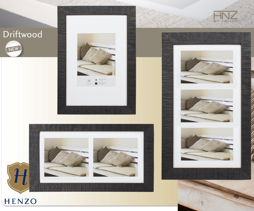 driftwood bois cadre photo avec passe partout en blanc noir beige marron gris ebay. Black Bedroom Furniture Sets. Home Design Ideas