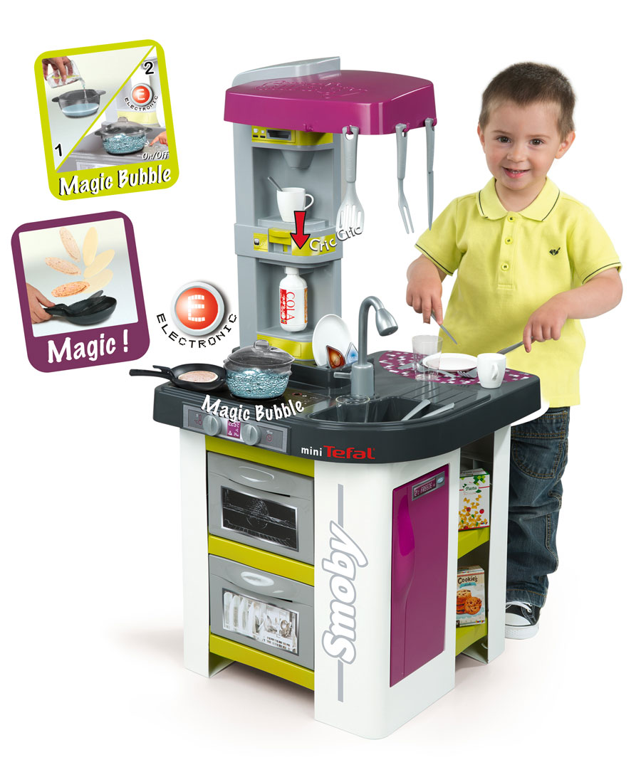 smoby tefal studio bubble kinder k che kinderk che spielk che mit zubeh r ebay. Black Bedroom Furniture Sets. Home Design Ideas