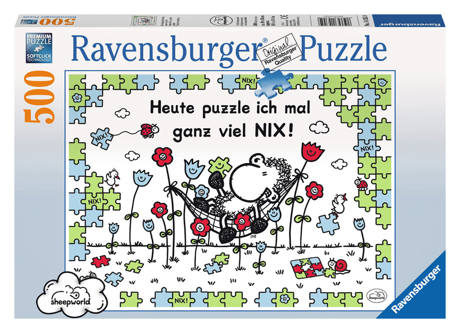 ravensburger puzzle 500 oder 1000 teile sheepworld erwachsenen puzzle schaf ebay. Black Bedroom Furniture Sets. Home Design Ideas