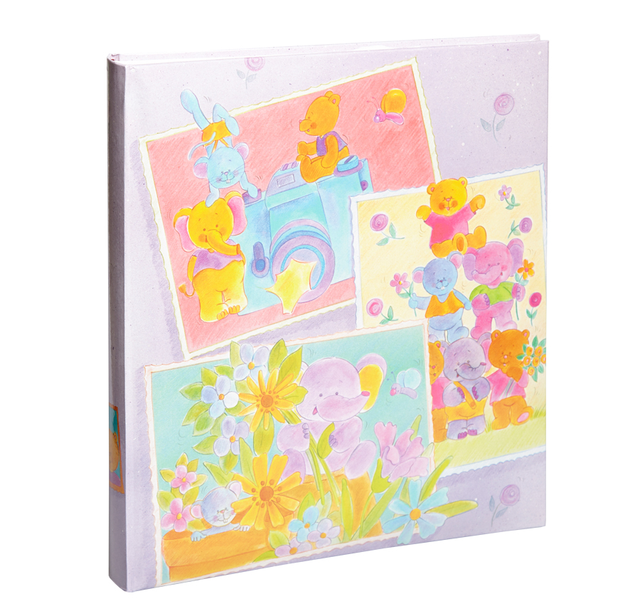 kamera kinder fotoalbum 29x32 cm 60 seiten babyalbum foto album ebay. Black Bedroom Furniture Sets. Home Design Ideas