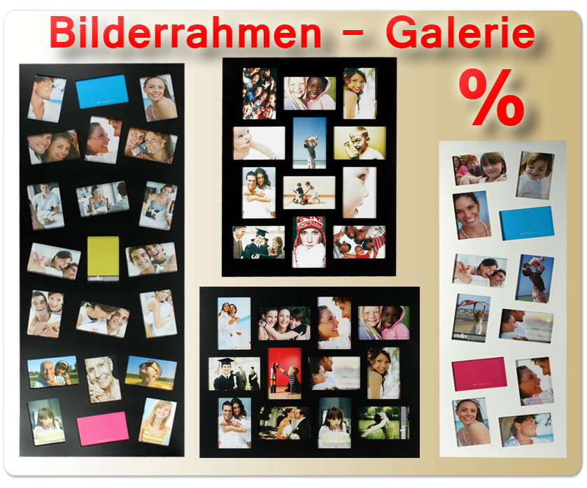 gallery bilderrahmen f r 10x15 bis 13x18 fotos collage foto galerie foto rahmen ebay. Black Bedroom Furniture Sets. Home Design Ideas
