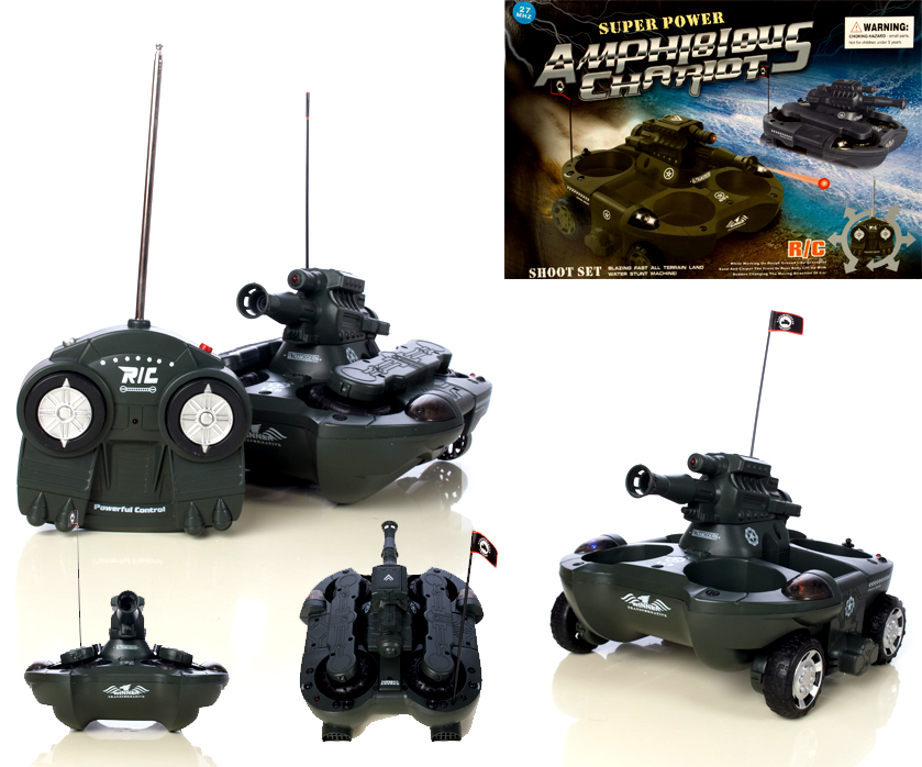 rc boot schiff amphibienfahrzeug land wasser tank ebay. Black Bedroom Furniture Sets. Home Design Ideas