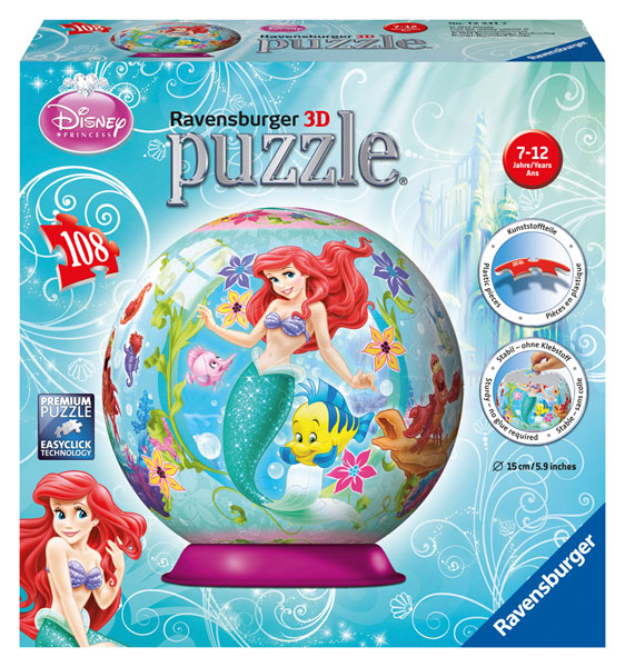ravensburger 3d puzzle ball 15 cm 108 teile ab 7 jahre ebay. Black Bedroom Furniture Sets. Home Design Ideas