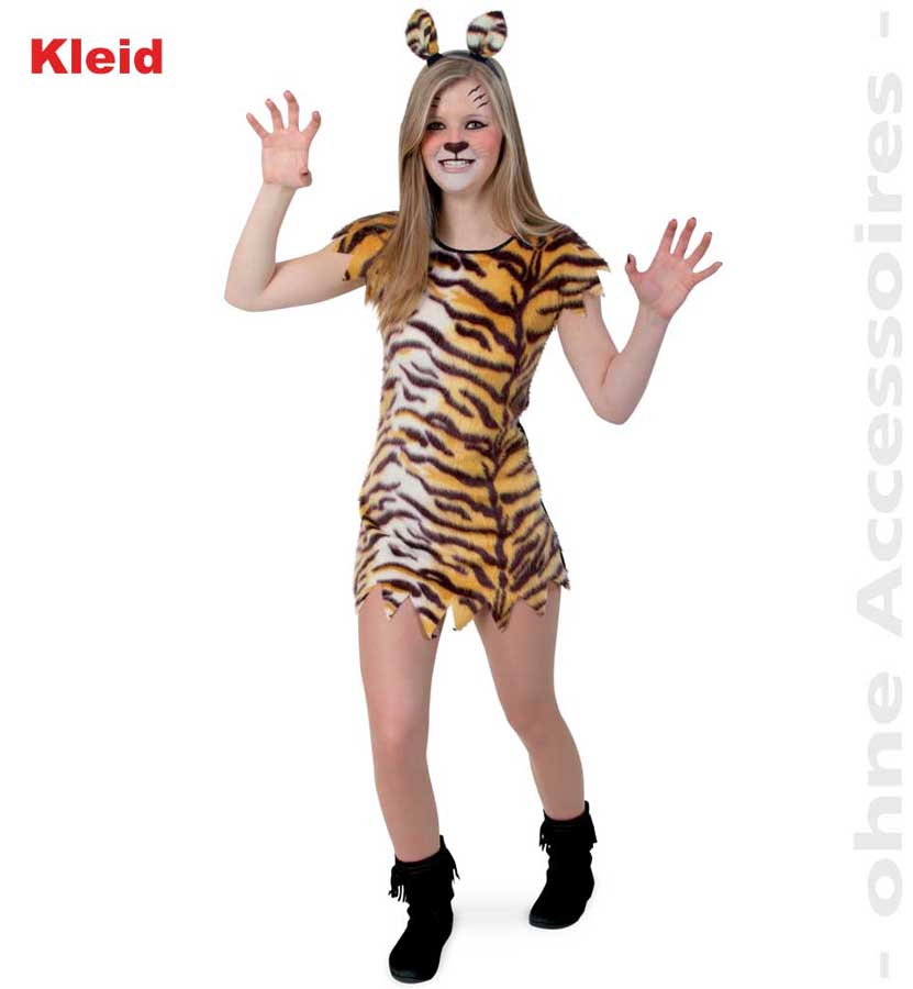 Fries Little Tisha Kleid Madchen Kostum Fasching Karneval Tiger