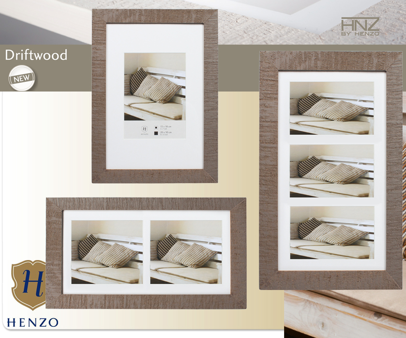 driftwood holz bilderrahmen mit passepartout in wei schwarz beigebraun grau ebay. Black Bedroom Furniture Sets. Home Design Ideas