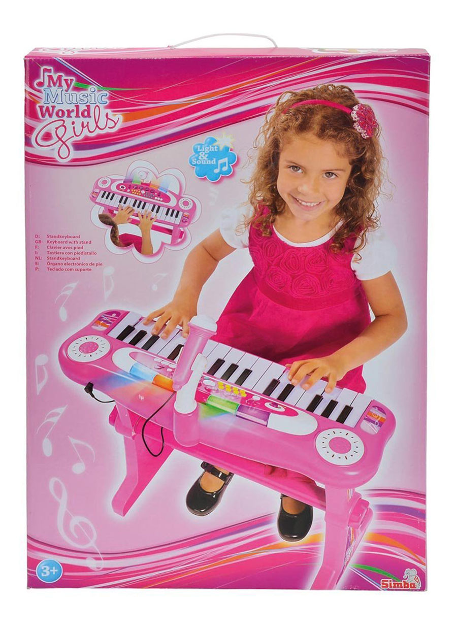 simba 106830690 my music world girls standkeyboard spielzeug kinder klavier. Black Bedroom Furniture Sets. Home Design Ideas