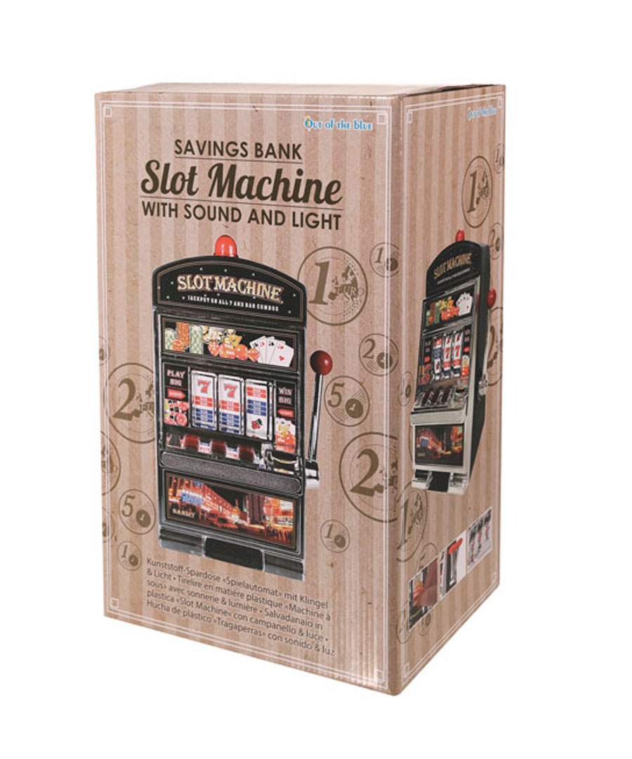 spardose spielautomat slot machine licht und sound sparb chse sparschwein deko ebay. Black Bedroom Furniture Sets. Home Design Ideas