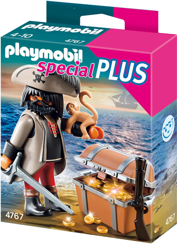 playmobil 4767 finsterer pirat mit ffchen und schatztruhe ab 4 jahre ebay. Black Bedroom Furniture Sets. Home Design Ideas