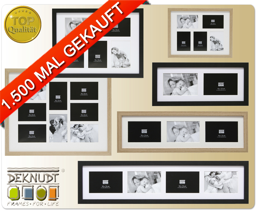 louise galerie holz bilderrahmen 10x15 bis 15x20 collage mit passepartout foto ebay. Black Bedroom Furniture Sets. Home Design Ideas