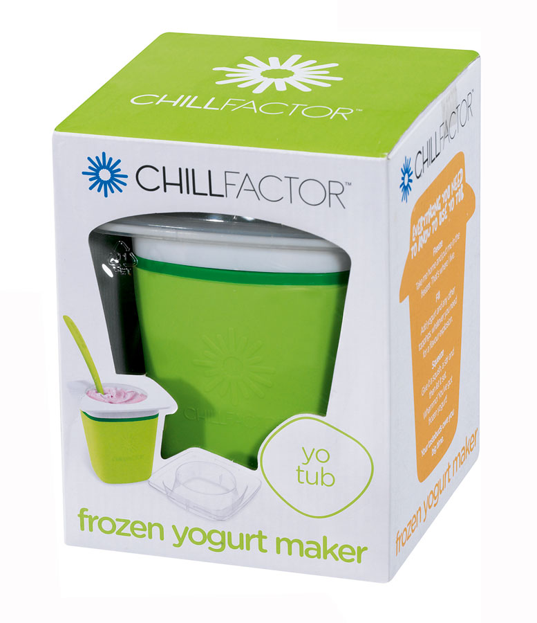 chill factor frozen joghurt maker gr n orange eis joghurt. Black Bedroom Furniture Sets. Home Design Ideas