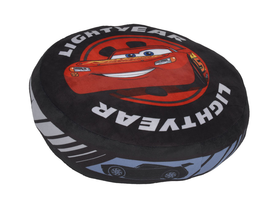 disney cars 3 lightning mcqueen kissen rund ca 40 cm kuschelkissen dekokissen ebay. Black Bedroom Furniture Sets. Home Design Ideas