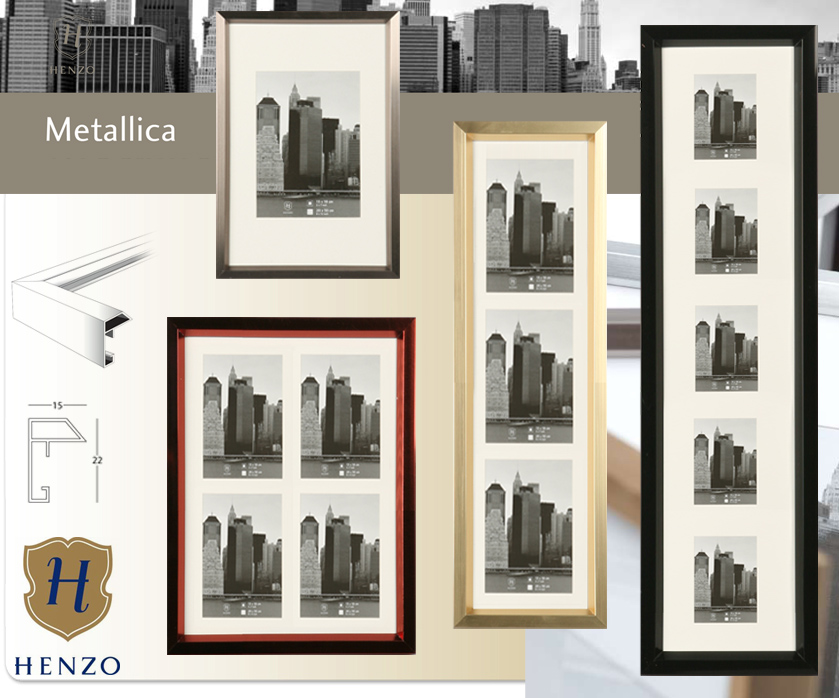 metallica galerie 10x15 13x18 passepartout galerie bilderrahmen collage foto ebay. Black Bedroom Furniture Sets. Home Design Ideas