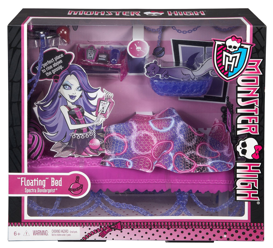monster high y7714 spectra vondergeist bett zimmerdeko bbv01 ebay. Black Bedroom Furniture Sets. Home Design Ideas