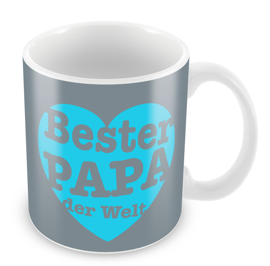 porzellan becher bester papa beste mama der welt tee tasse kaffee kaffeebecher ebay. Black Bedroom Furniture Sets. Home Design Ideas